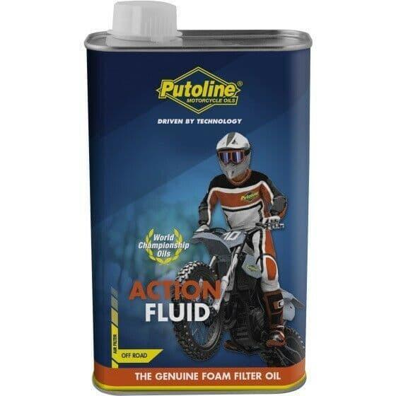 Putoline Action Fluid MX Motocross Off Road Motorbike Foam Air Filter Oil 1L Tin